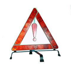 Traffic triangle warning sign