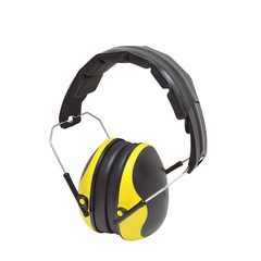 Dual color safety earmuff