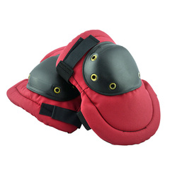 Red knee protective pad